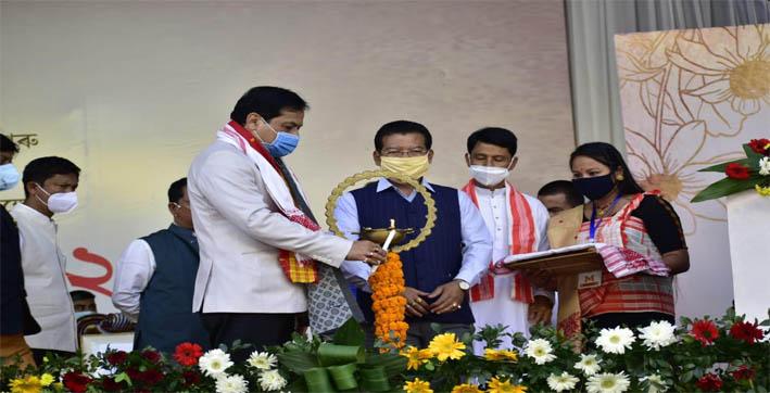 cm sonowal attends bhimbor deuri divas at narayanpur