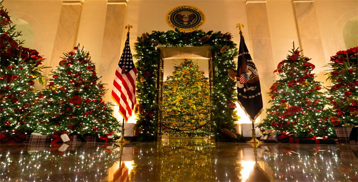 watch | first lady melania trump unveils 2020 white house christmas décor