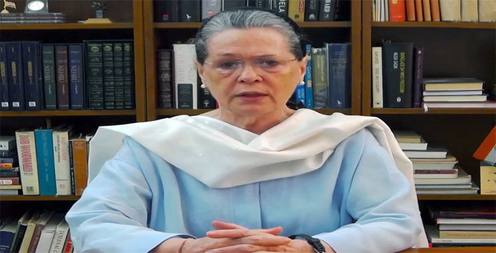 Sonia Gandhi holds meeting with CMs of Cong-ruled states to review COVID situation