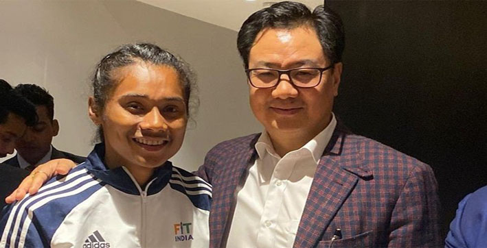 hima das will keep running for country rijiju after assam govt appoints sprinter as dsp