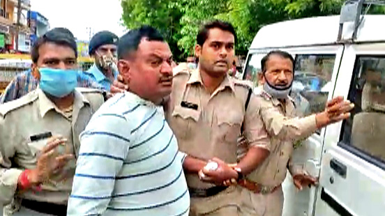 gangster vikas dubey killing case  two arrested for helping gang members