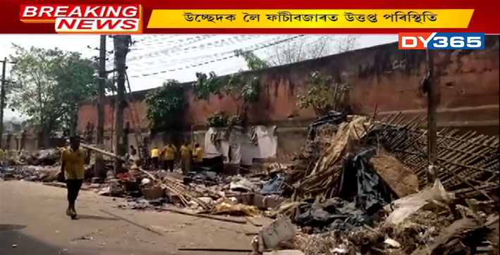 Tense over eviction drive against illegal street shops  in Fancy Bazar