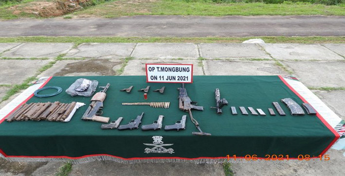 Huge cache of arms, ammunition recovered in Manipur