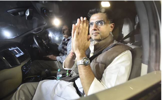 rajasthan political crisis sachin pilot rushes to delhi to meet congress leaders