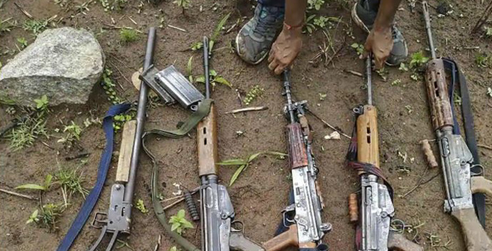 chhattisgarh four maoists killed in encounter with security forces arms and ammunition seized