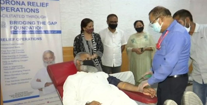 AAP MLA organizes blood donation camp in memory of Covid-19 victims