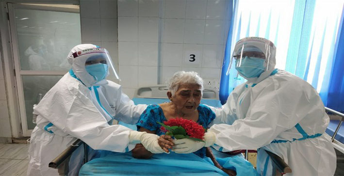 West Bengal: 95-year-old woman beats COVID-19