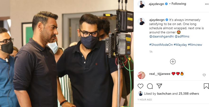 ajay devgn announces wrap-up of maydays first schedule