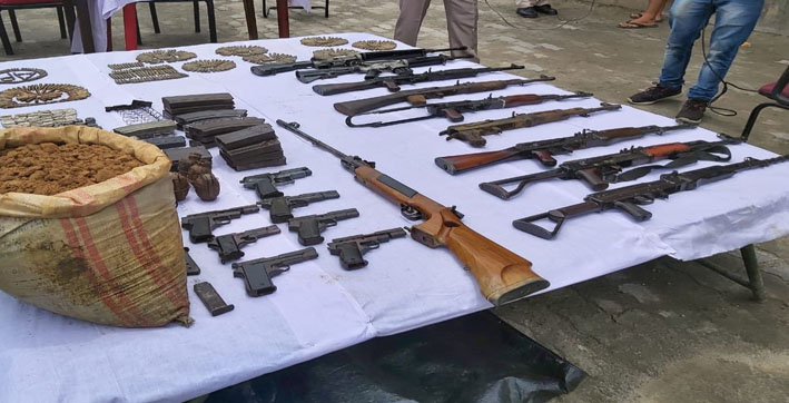 huge cache of arms recovered in udalguri