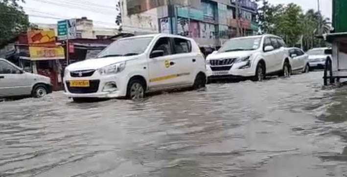 flash flood inundates city