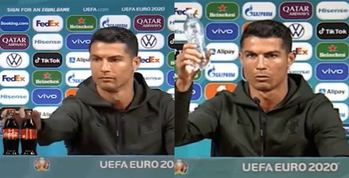 Coca Cola loses $4 billion as Cristiano Ronaldo removes bottles and