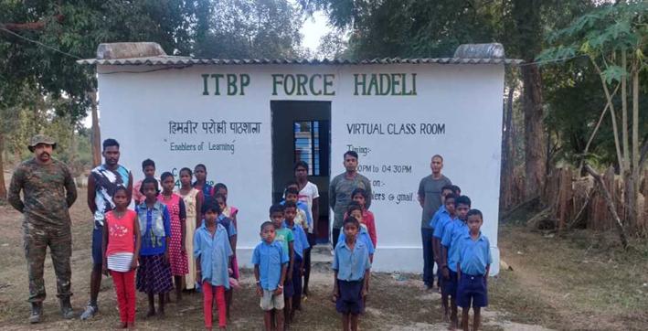 itbp helps children in red zone area starts smart classes in chhattisgarh