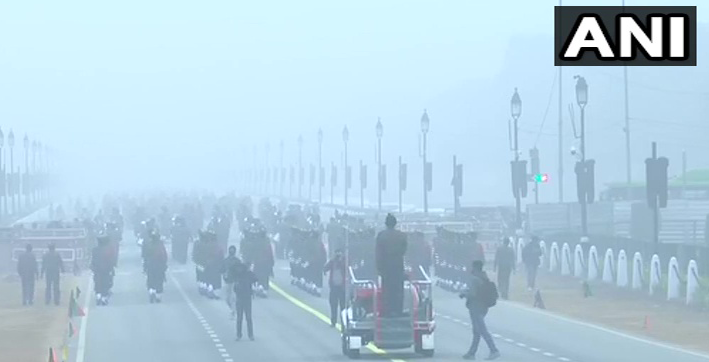 security forces carry out republic day parade rehearsals