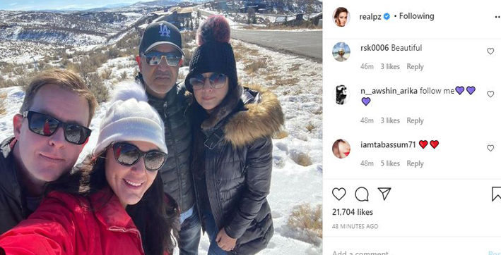 preity zinta shares snowy glimpse of her road trip