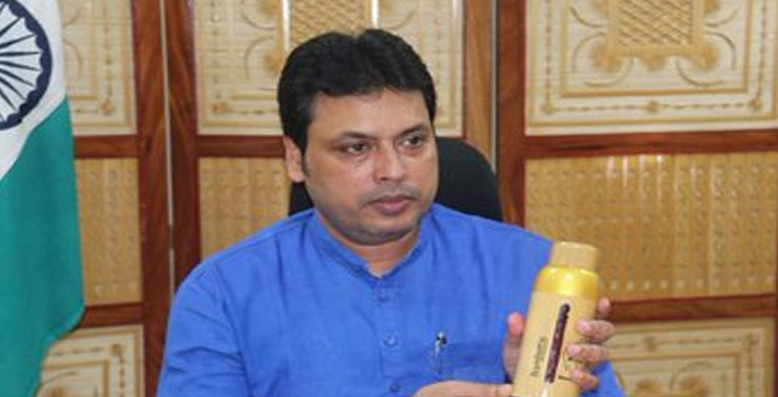 tripura cm launches bamboo cookies honey bottle