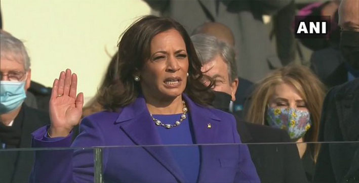 kamala harris sworn in as us vice president
