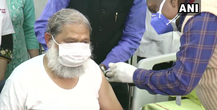 haryana health minister anil vij administered trial dose of covaxin