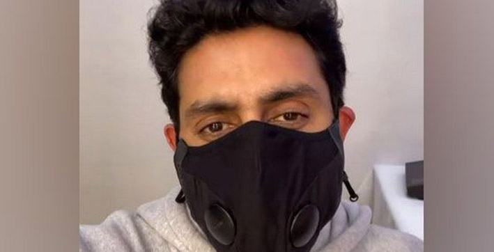 abhishek bachchan urges people to wear mask to combat covid-19
