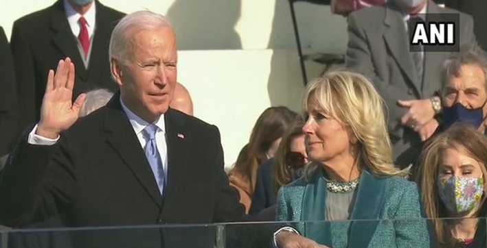 biden swears-in presidential appointees in virtual ceremony at white house