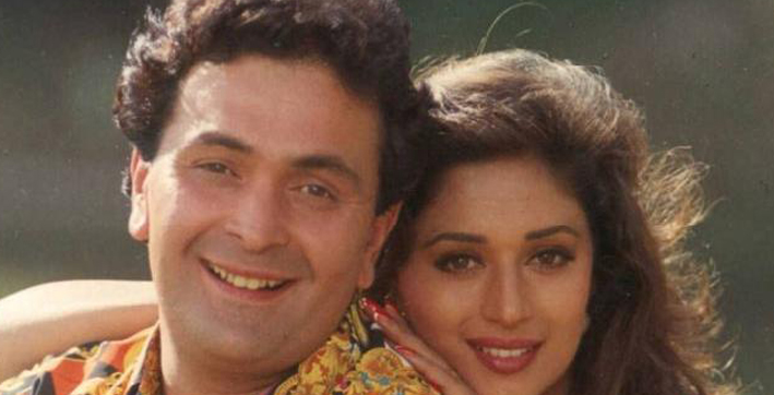 madhuri dixit recalls working with rishi kapoor saroj khan