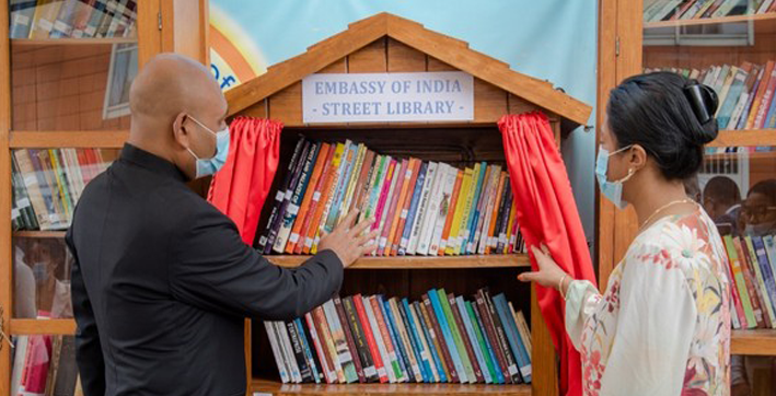 street library inaugurated at embassy of india antananarivo