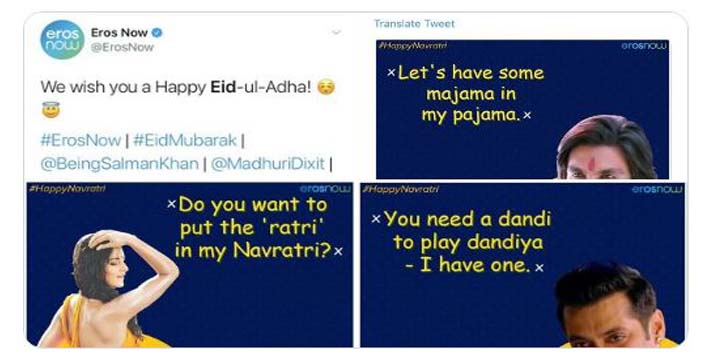 boycotterosnow trends on social media for sharing vulgar memes on navratri