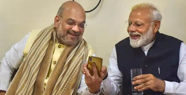 pm modi wishes amit shah on his 56th birthday