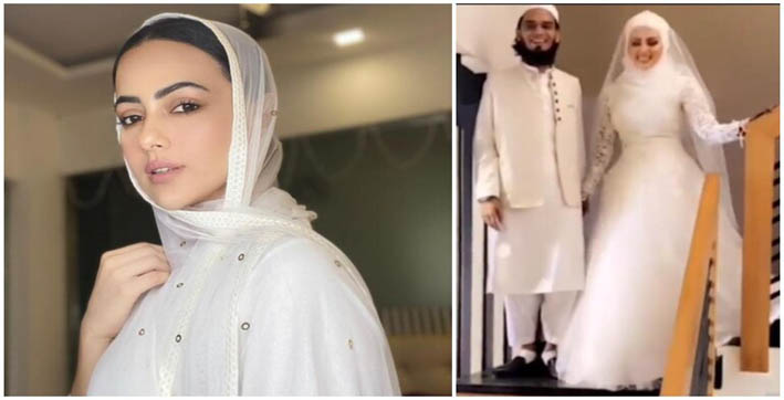 bigg boss fame sana khan marries mufti anas from surat after quitting showbiz