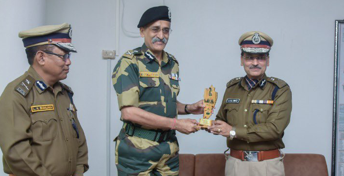 bsf mizoram police officials review security