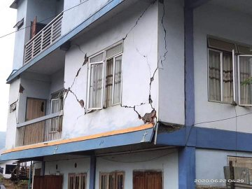 mizoram hit by two earthquakes within 12 hours houses damaged roads crack