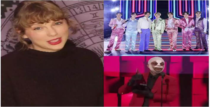 american music awards 2020 taylor swift bts the weeknd take home top honours