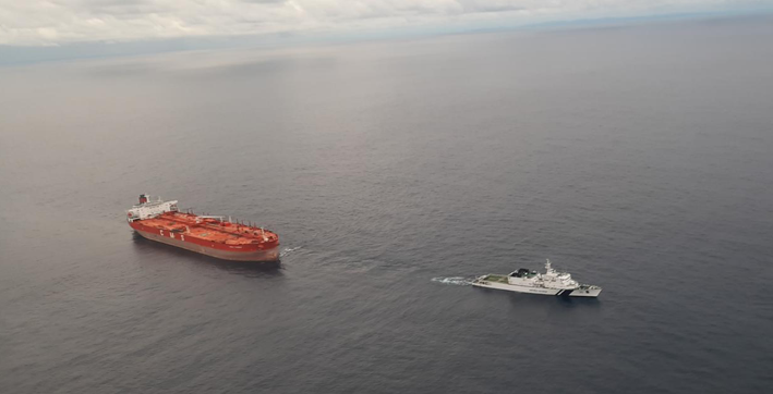 coast guard averts oil tanker running aground off nicobar islands