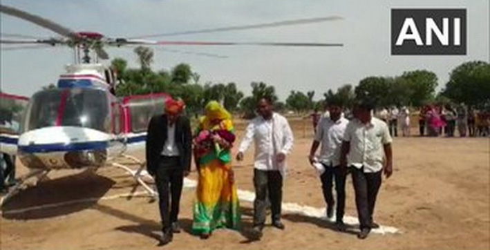 Rajasthan: Family hires helicopter to bring home first girl child born in 35 years
