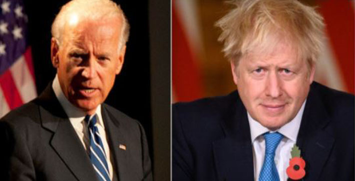 joe biden speaks to uk pm johnson discusses potential free trade deal