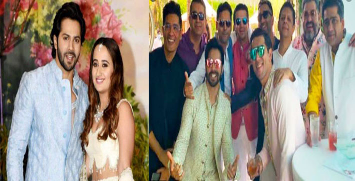 varun - natasha wedding zoa morani shashank khaitan hairstylist and dhol party arrives in alibaug