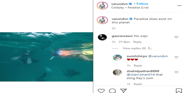 varun dhawan shares breathtaking video of his getaway in maldives