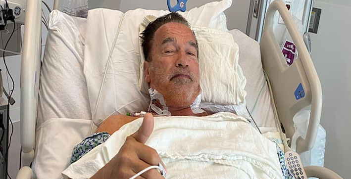 arnold schwarzenegger in fantastic condition following heart surgery