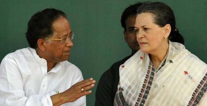 tarun gogoi was one of tallest leaders of congress sonia gandhi
