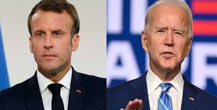 joe biden speaks to french president macron seeks to strengthen bilateral ties