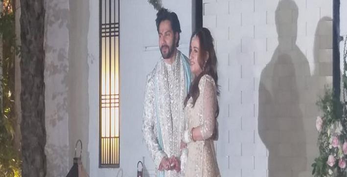 varun dhawan natasha dalal make first appearance post-wedding
