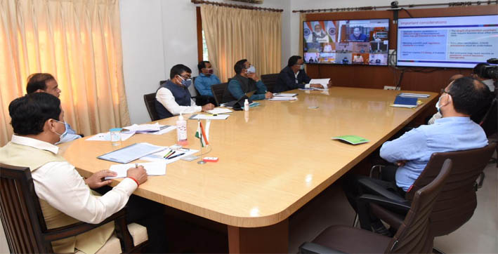 pm chairs high level meeting with cms to review status  preparedness of covid-19 response  management