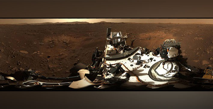 nasas perseverance rover sends hd panoramic view of mars landing site