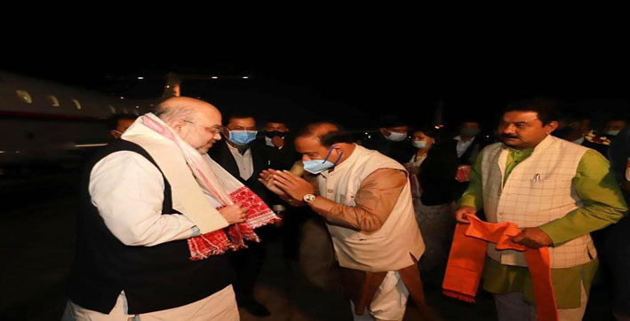 amit shah lays foundation stone of key projects in assam