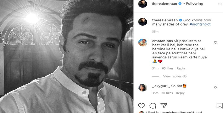 emraan hashmi shares intriguing glimpse from night shoot