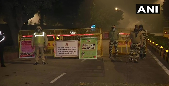 security tightened in delhi in view of farmer leaders rally