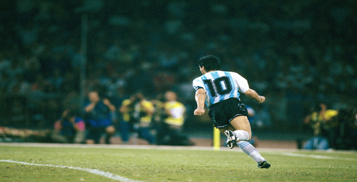 among the messis and ronaldos there will be only one maradona