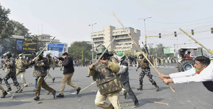 22 firs filed in connection with farmers tractor rally violence over 100 delhi police personnel injured
