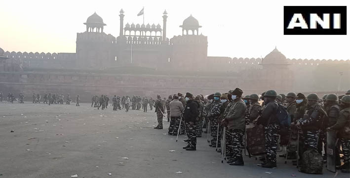 security heightened at red fort singhu border post farmers tractor rally violence