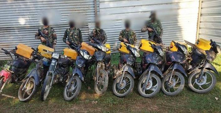 assam rifles intercept myanmar origin two-wheelers plying illegally