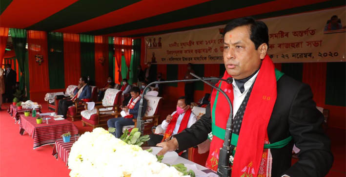 sonowal visits karbi anglong reiterates governments commitment to transform the district into world class tourist destination